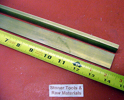 2 Pieces 14 X 1 C360 Brass Flat Bar 14 Long Solid .250 Mill Stock H02
