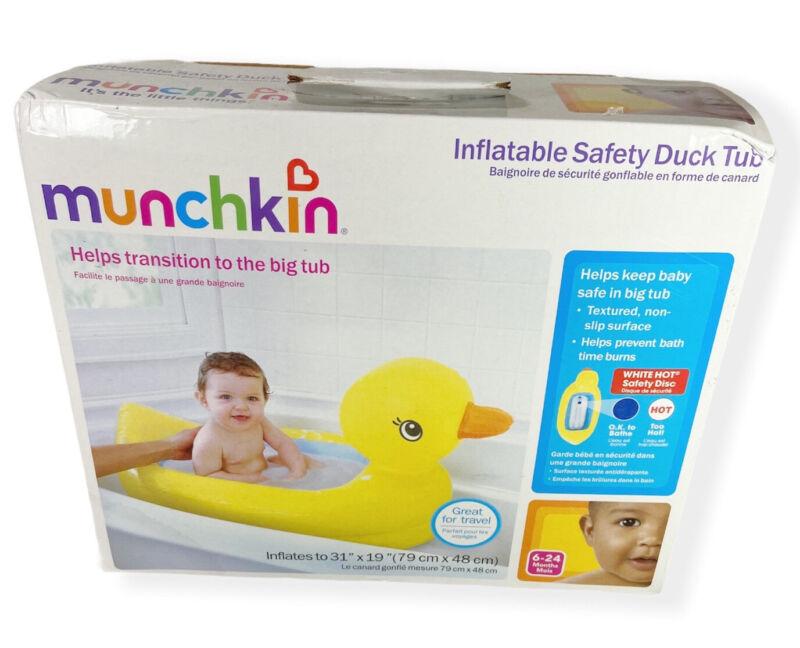Munchkin White Hot Inflatable Duck Baby Bath Tub Toddler Kids Bathing Open Box