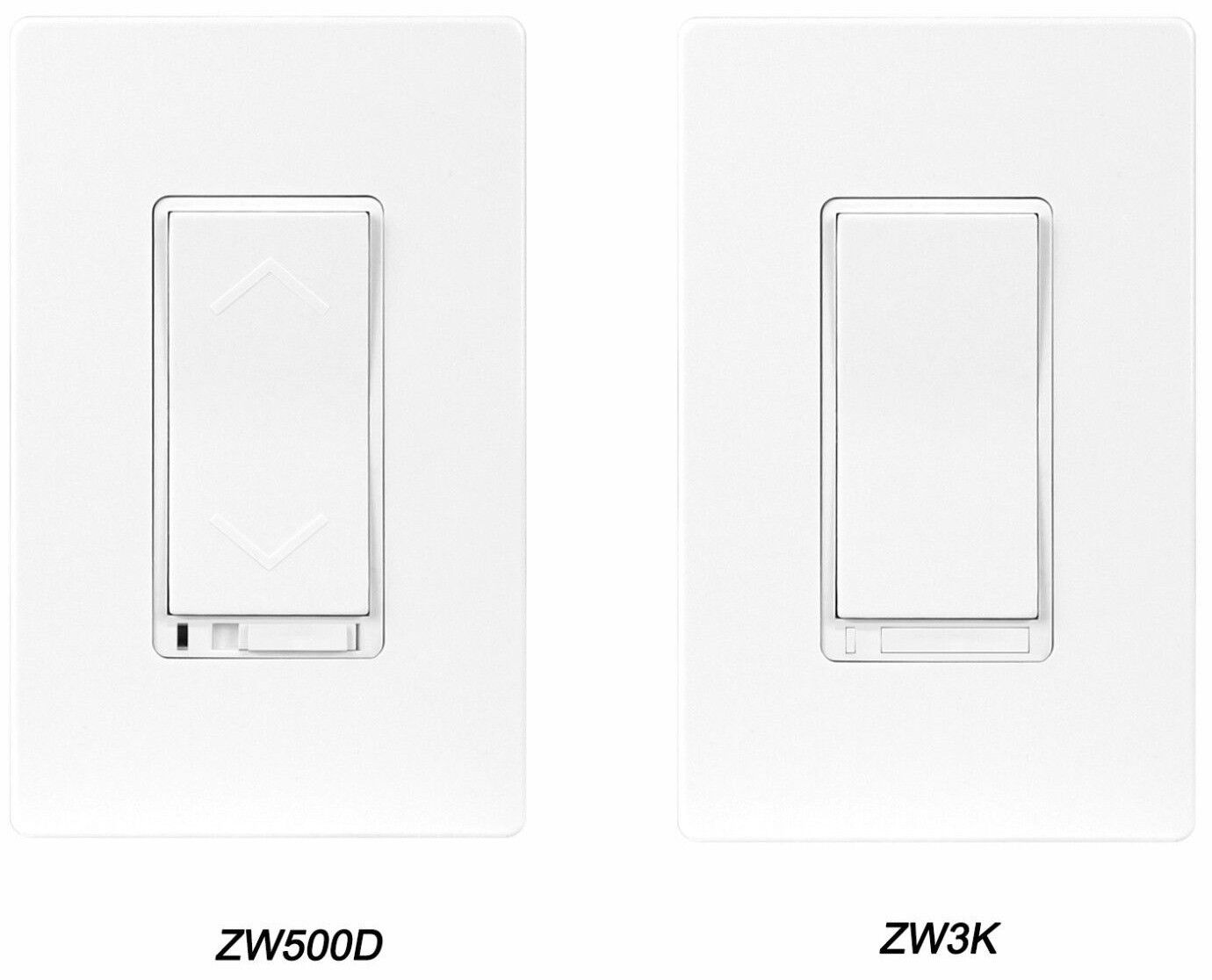 z wave wireless control in wall 3 way dimmer smart switch starter kit ebay. Black Bedroom Furniture Sets. Home Design Ideas