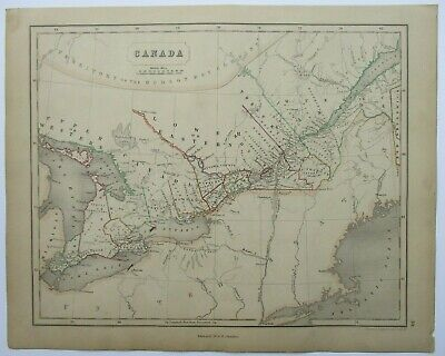 Antique Map of Canada by William & Robert Chambers 1845