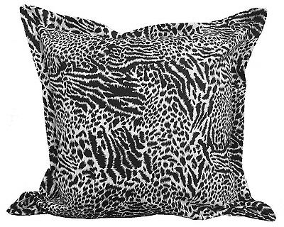 2 Black White Euro Pillow Shams Cover 26x26