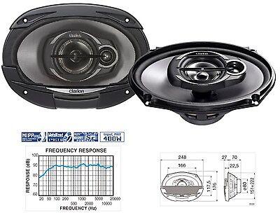 Clarion SRE6932R  3-WEGE 15 CM × 23 CM 6x9 Auto-Lautsprecher PKW 400 Watt