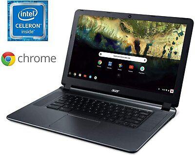 """🔥NEW Acer 15.6"""" HD Chromebook, Intel Celeron N3060, 4GB, 16GB eMMC Gray"""