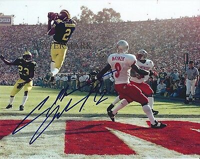 CHARLES WOODSON SIGNED MICHIGAN WOLVERINES 1998 ROSE BOWL 8x10 REPRINT PHOTO RP