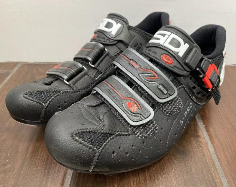 SIDI S-Pro Dominator 5 MTB Cycling Shoes EUR 41 US 7-7.5 Mountain Bike Black Red