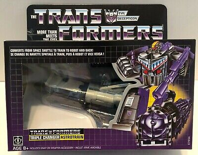 NEW FACTORY SEALED Transformers G1 Vintage Reissue Astrotrain Triple Changers