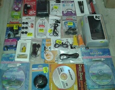 LOT REVENDEUR 26 PAQUET ACCESSOIRES HI FI TV AUDIO VIDEO INFORMATIQUE TELEPHONIE