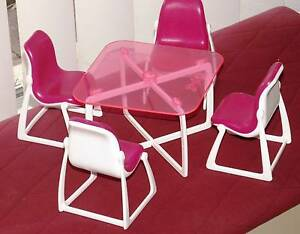 1977 Vintage Barbie Dolls Patio Table & Chair Set - Doll size Greenwood Joondalup Area Preview