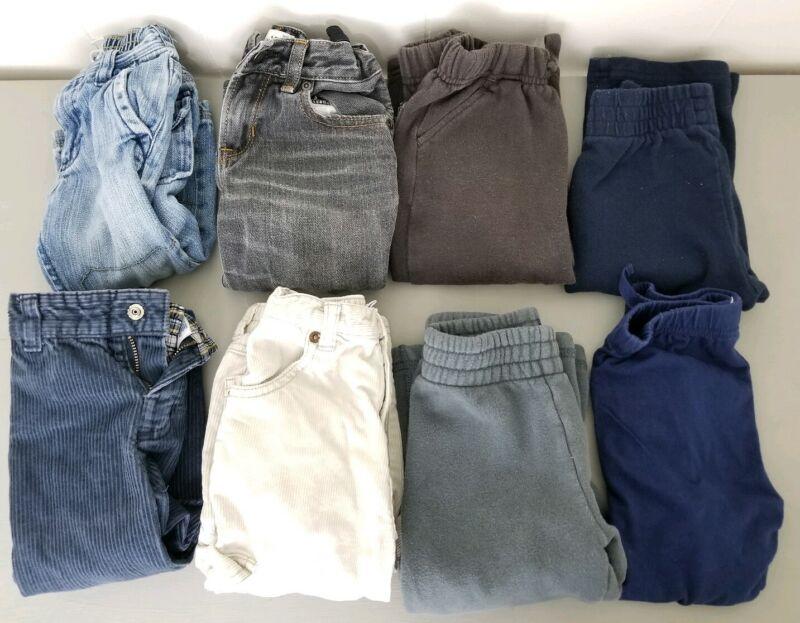 Lot of 8 - Toddler Boy Kids Clothes 18-24 Months Pants - Jeans, Gym Sweat Pants