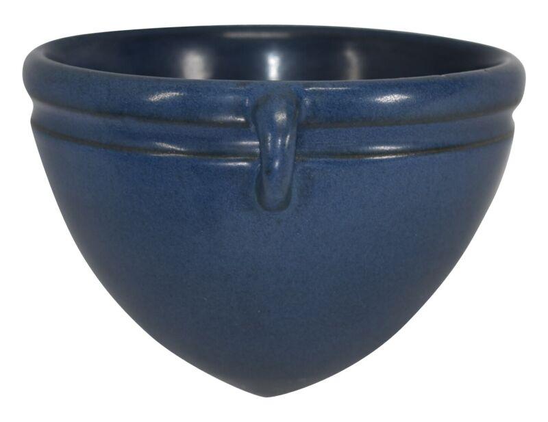 Marblehead Pottery Matte Blue Hanging Basket Shape 74