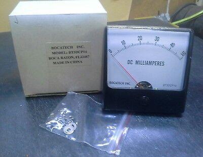 Panel Meter 0 - 50 Milliamps Dc 80mm X 80mm