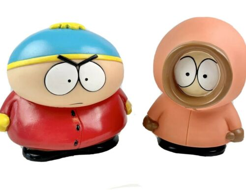 "Vintage South Park Figures 5.5"" Set of 2 Fun 4 All Comedy Central Cartman Kenny"