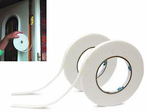 2x 5M Insulation Draught Excluder Tape Draft Weather Foam Seal Strip Door Window