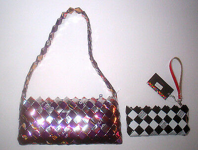 Recycled Woven Candy & Gum Wrapper Purse & Wristlet NAHUI OLLIN