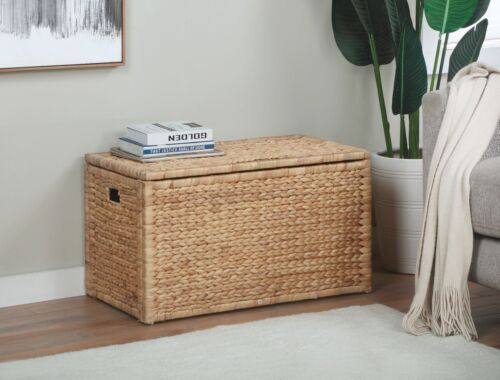 Water Hyacinth Storage Trunk, Natural (Collectible)