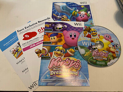 Kirby's Return to Dream Land (Nintendo Wii, 2011) - Complete, Tested