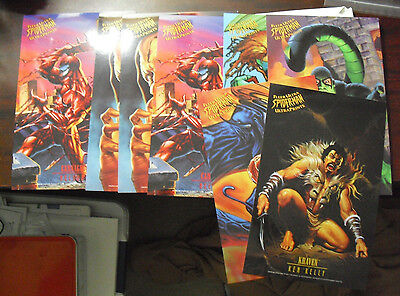 Lot of 8 1995 Fleer Ultra Spider-Man Ultra Prints Large Glossy Cards LOOK