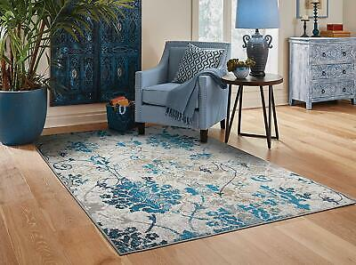 Modern Area Rugs 8x10 Contemporary Blue Living Room Rug 5x7 Door Mat 2x3 Carpet  ()