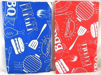 Assorted Sizes  Red or Blue  BBQ Grill Picnic Cookout Vinyl Tablecloth FREE SHIP](Picnic Tablecloth)