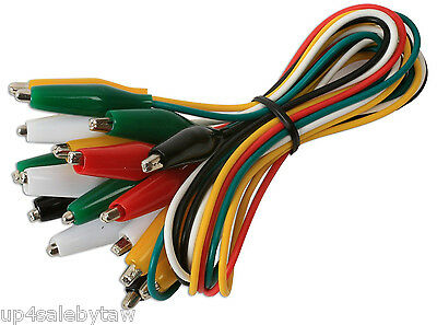 Test Leads Set Jumper Wire With Alligator Clips 10-pc.multi Color Set