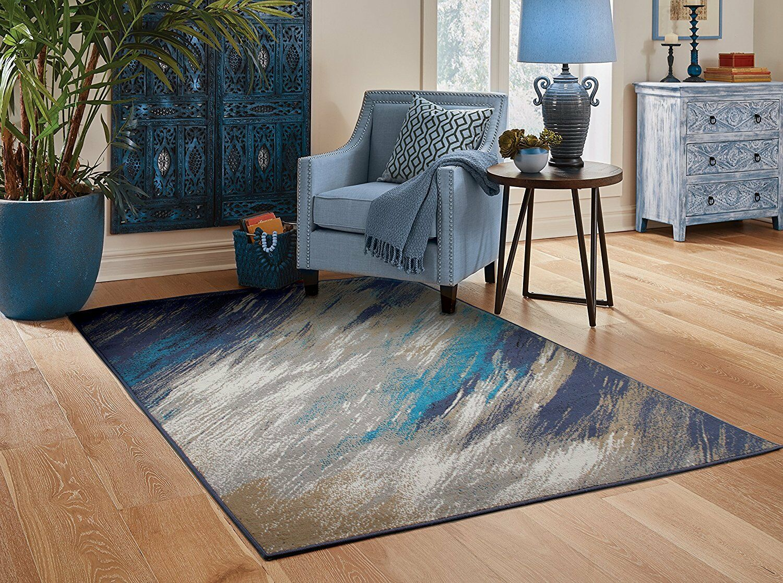 Contemporary Area Rugs 8x10 Blue Gray Living Room Rugs 5x7 Door Mats 2x3 Carpet