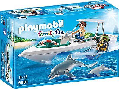 PLAYMOBIL 6981 - Tauchausflug mit Sportboot, Spielzeugfigur - NEU in der OVP