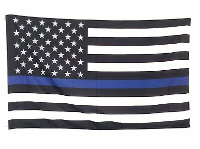 US 5x3 Outdoor flag Tactical Police law enforcement Thin Blue Line United States