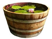 Wooden Barrel Planter