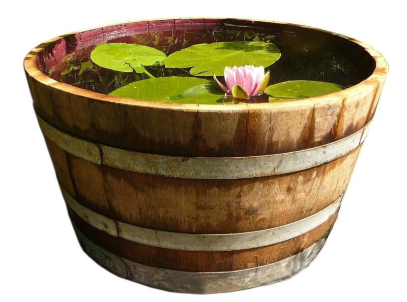 Wooden barrel planter ebay for Decoration jardin tonneau