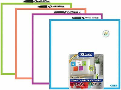 Bazic Magnetic Dry Erase Board 14 X 14 Magnet Marker And Mounting Hardware
