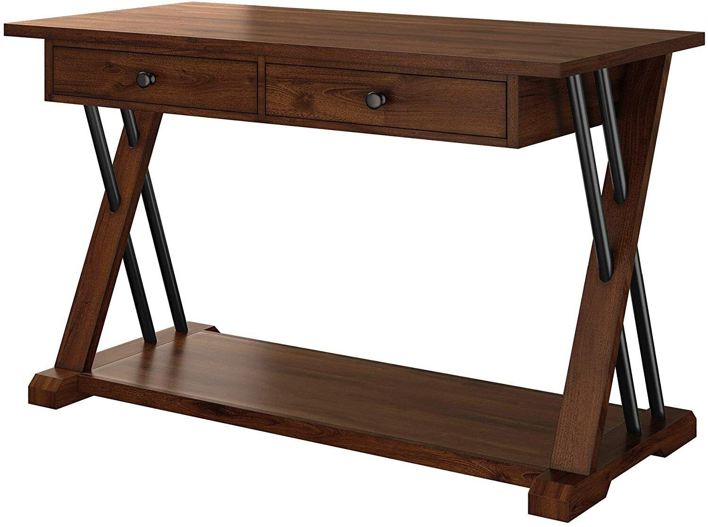 Computer Desk,Solid Wood Writing Desk, Vanity Desk, Vintage Crafts,Brown Furniture