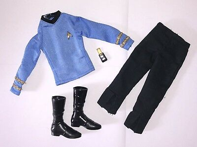 Barbie Star Trek 50th Mr Spock Collector Ken Doll Outfit Blue Uniform Boots NEW