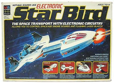 Vintage 1970's MB Electronic Star Bird Spaceship Space Transport w/Box Works