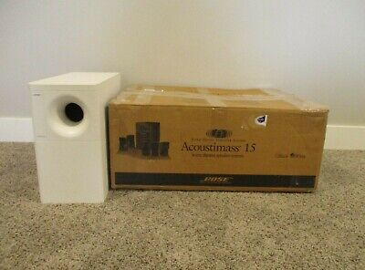 Bose Acoustimass 15 Subwoofer Sub Woofer Home Theater System White In Box