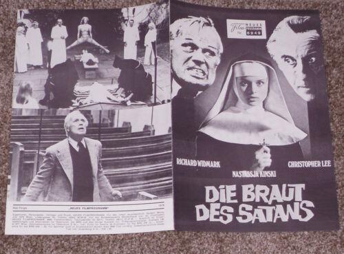 TO THE DEVIL A DAUGHTER orig German programme  CHRISTOPHER LEE/NASTASSJA KINSKI