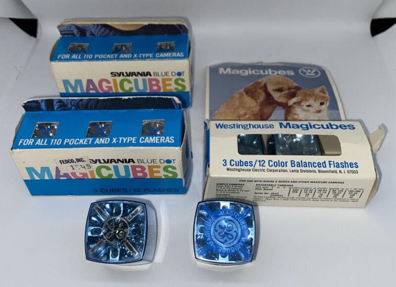 Vintage Mixed Lot Flash Cubes Bulbs - GE - Westinghouse - Sylvania Magicubes