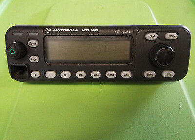 Motorola Mcs 2000 Flashport Two Way Radio Front Control Panel Hcn1117b An13