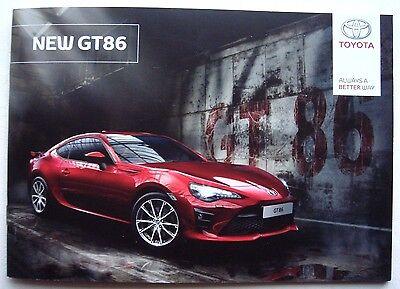 Toyota . GT86 . New GT86 . February 2017 Sales Brochure