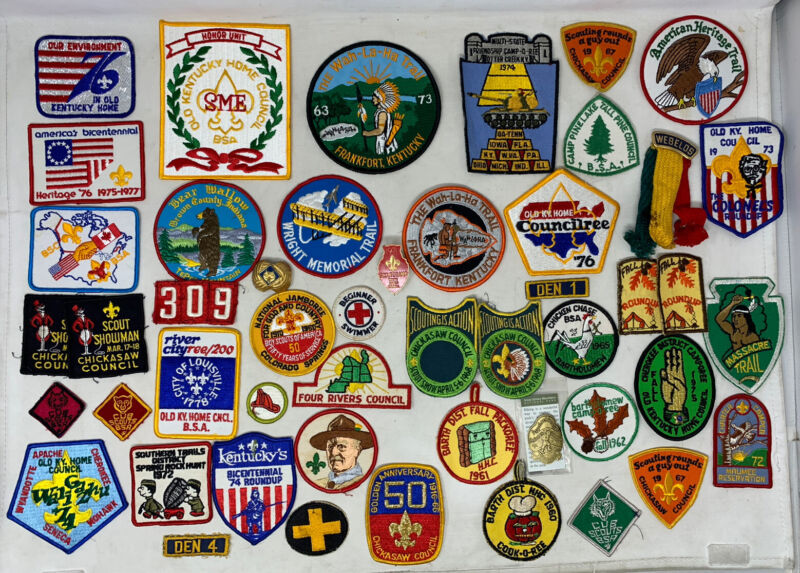 Vintage Boy Scouts of America BSA Patch Lot of 49 1960s-1970s Cub Webelo Badge