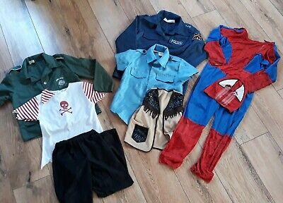 5 Karnevalskostüme für Jungen, Spidermann,  Polizist, Cawboy, - Kostüme Für Karneval