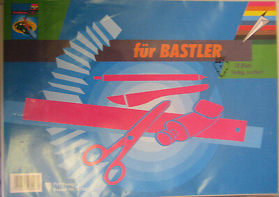 5 X 18Blatt =90 Blatt  Für Bastler farbiger Karton  Papier  3106  Bastelkarton