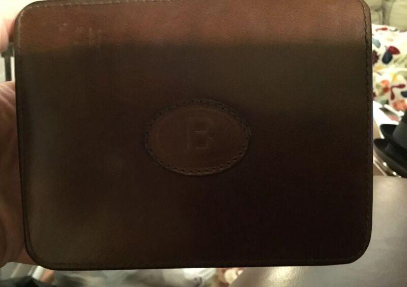 VINTAGE! Bally Rare Travel Shoe Shine Care Kit Set Brown Leather Case Italy VGC!