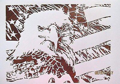 Bald Eagle Stencil Reusable 10 mil Myalr Stencil