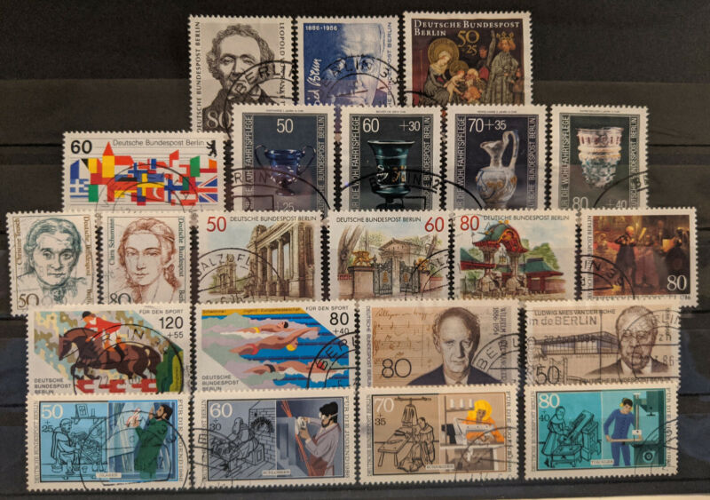 Germany Berlin 1986 Complete Year Set Used