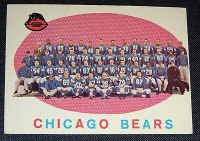 1959 Topps #104 Football Card CHICAGO BEARS Team 57 Yrs Old NM/MT !!! tedsclutch