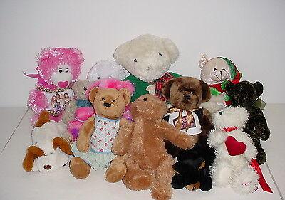 Lot of 13 Medium to Large Sized Plush Animals Stuffed Toy