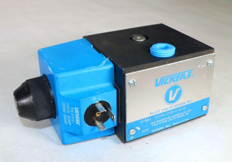 New VICKERS 879152 DG4S4 0131B U B 60 110V50-120V60 Pilot Control Valve H5