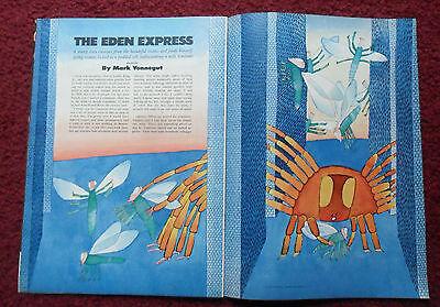 1975 Magazine Short Story 'Eden' by Mark Vonnegut w/ Jean Michel Folon ART