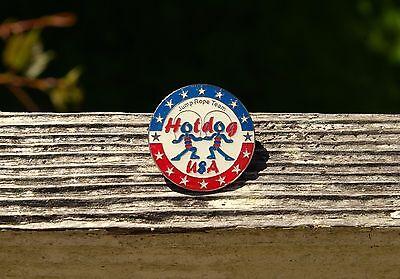 - Jump Rope Team Hotdog USA Stars Red White Blue Metal & Enamel Lapel Pin Pinback