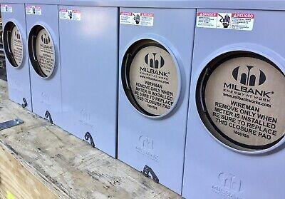 New Milbank Meter Socket 4 Gang 4 Position Meter 200 Amp Center Feed U1254-x-k3